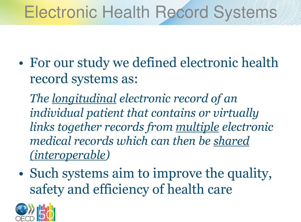 links together records from multiple electronic medical records which can then be shared