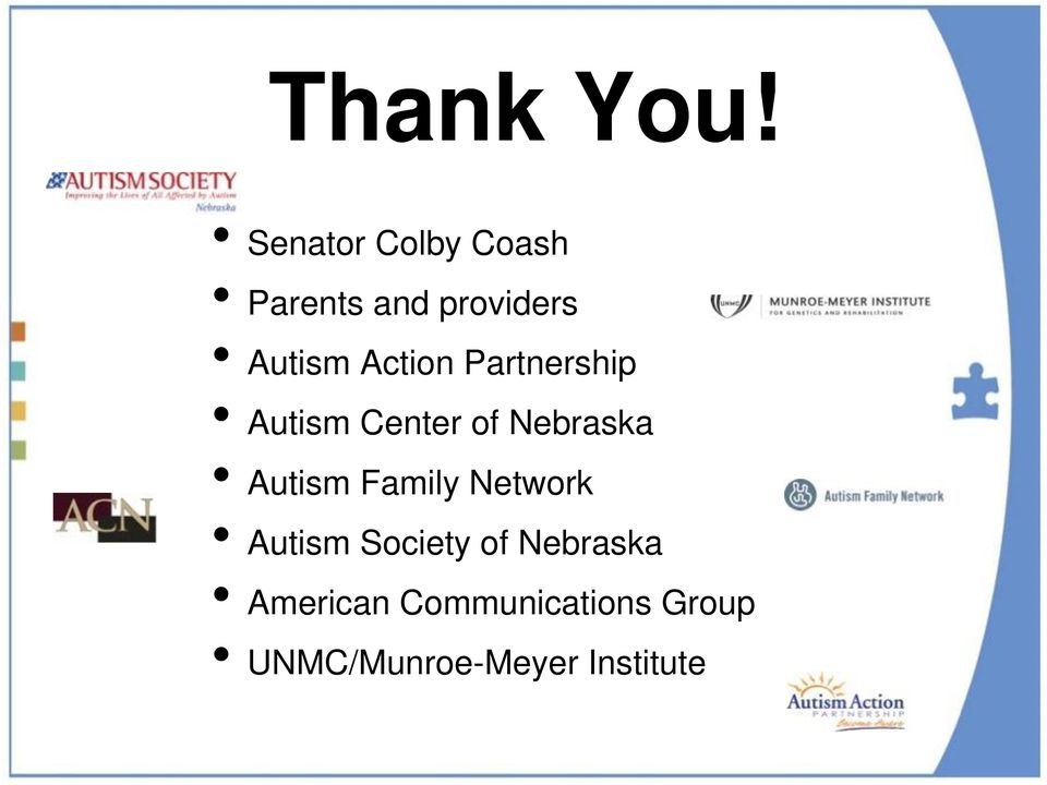 Action Partnership Autism Center of Nebraska Autism
