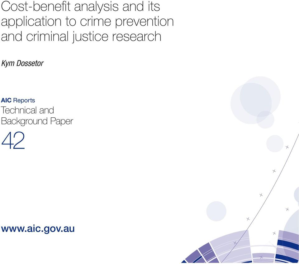 research Kym Dossetor AIC Reports