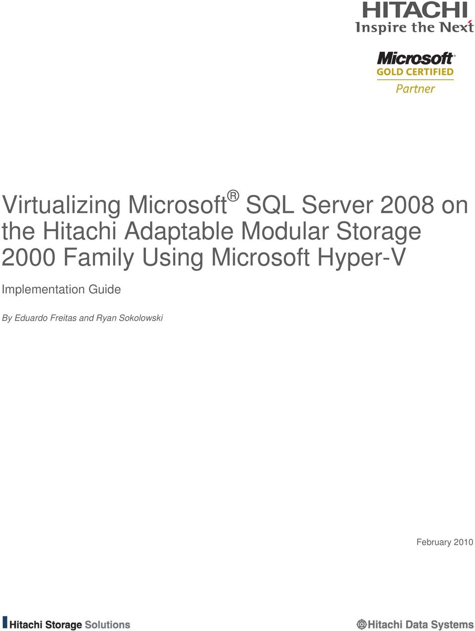 Using Microsoft Hyper-V Implementation Guide By
