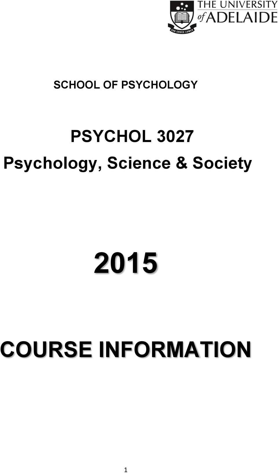 Psychology, Science &