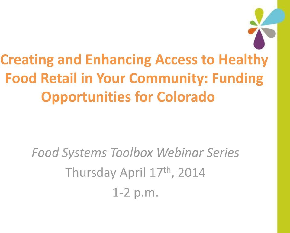Opportunities for Colorado Food Systems