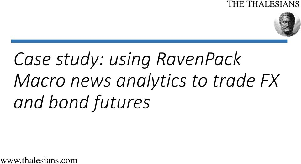news analytics to