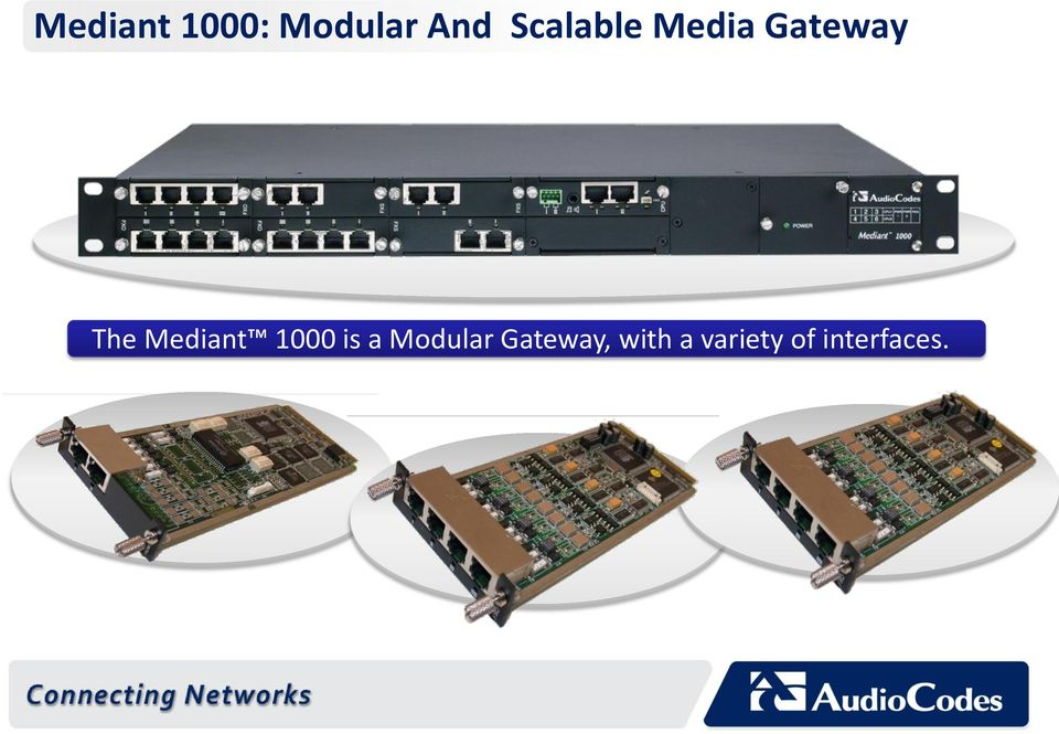 Mediant 1000 is a Modular