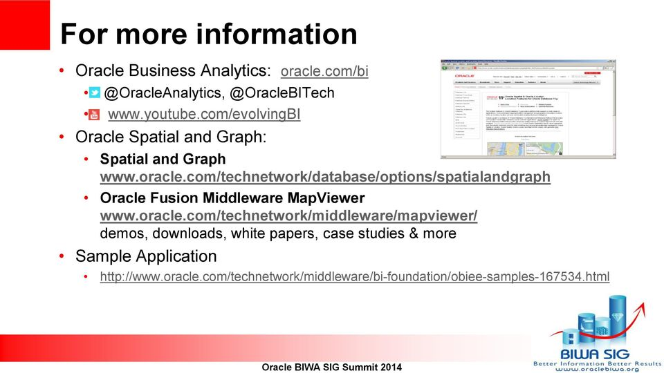 com/technetwork/database/options/spatialandgraph Oracle Fusion Middleware MapViewer www.oracle.