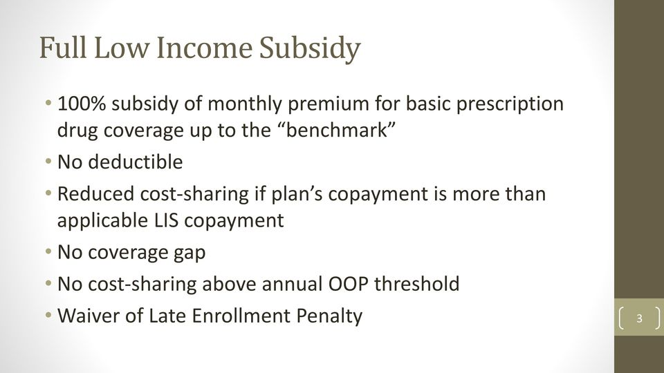 cost-sharing if plan s copayment is more than applicable LIS copayment No
