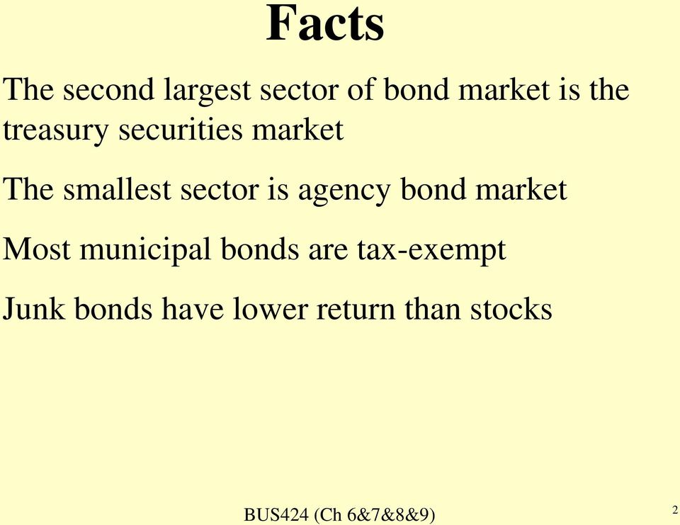 is agency bond market Most municipal bonds are