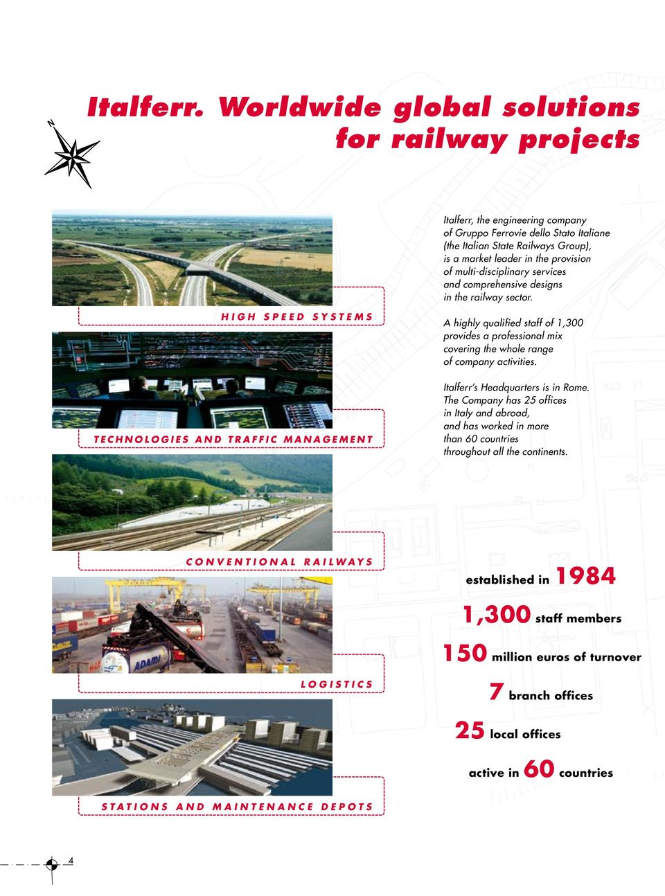 multi-disciplinary services and comprehensive designs in the railway sector.