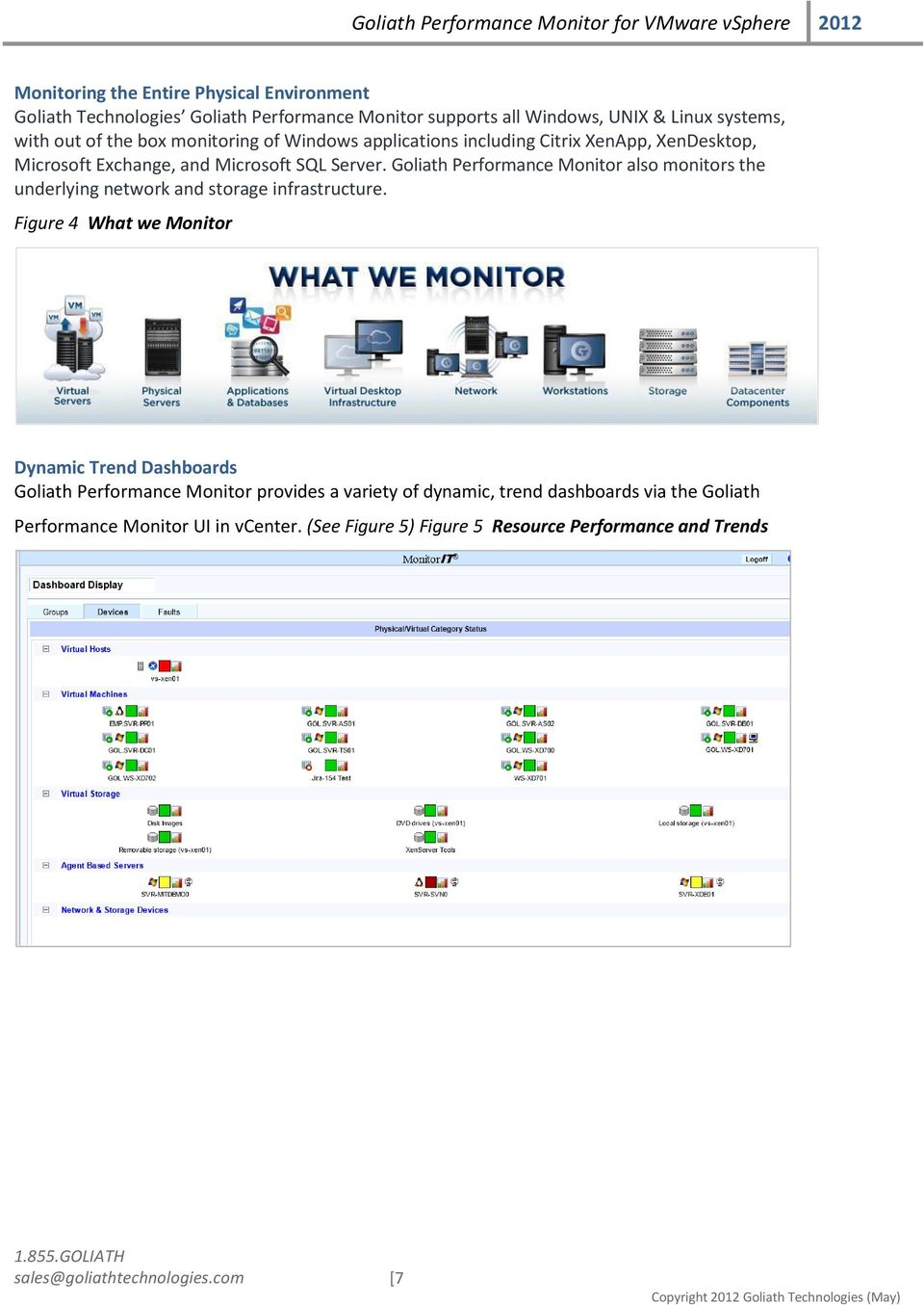 Goliath Performance Monitor also monitors the underlying network and storage infrastructure.