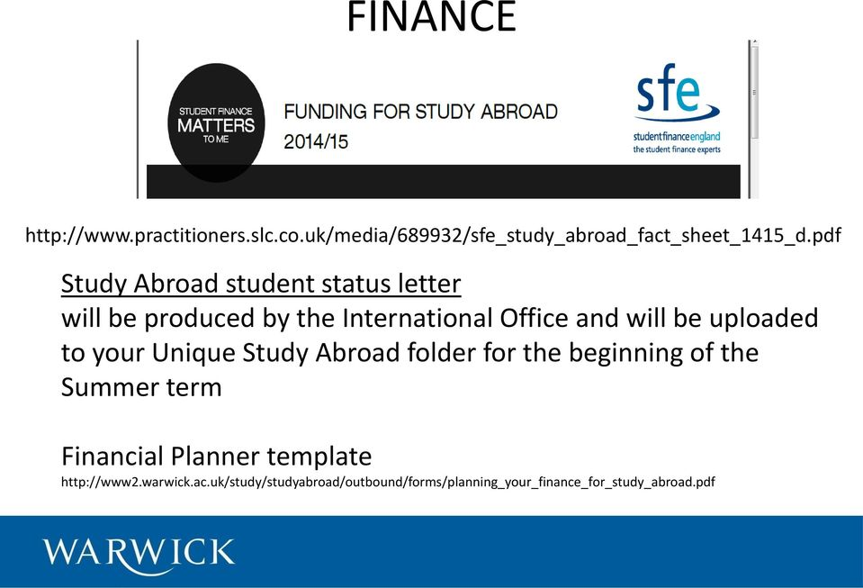 uploaded to your Unique Study Abroad folder for the beginning of the Summer term Financial Planner