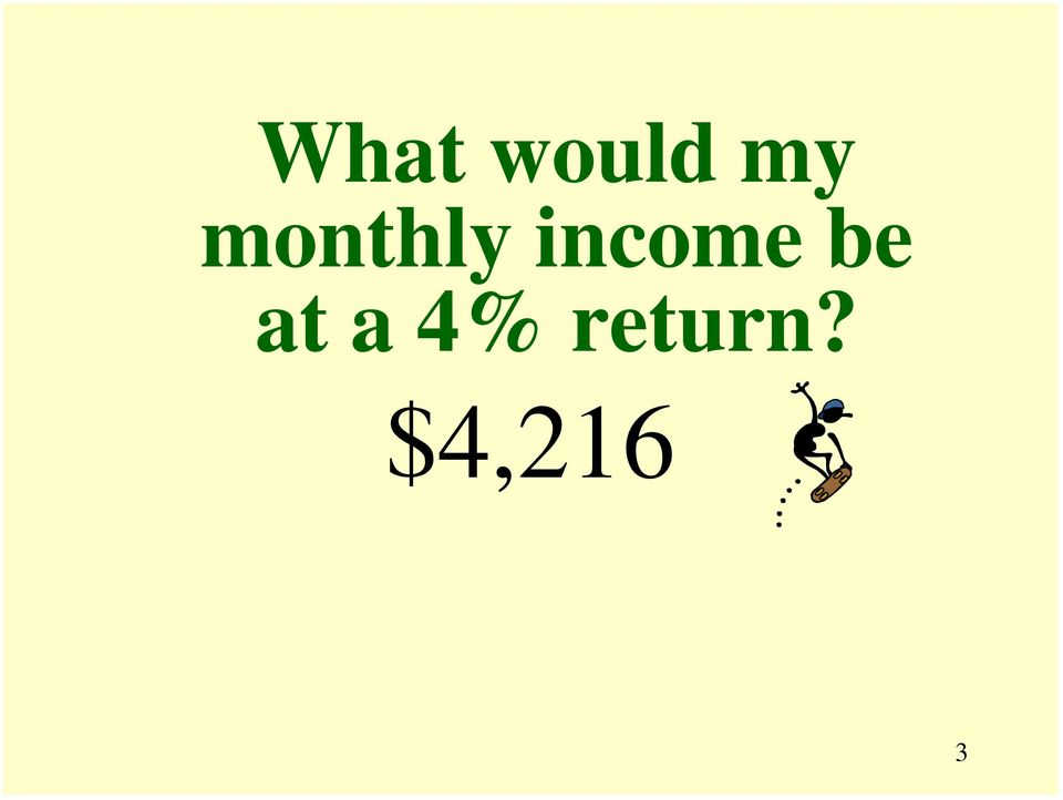 income be at
