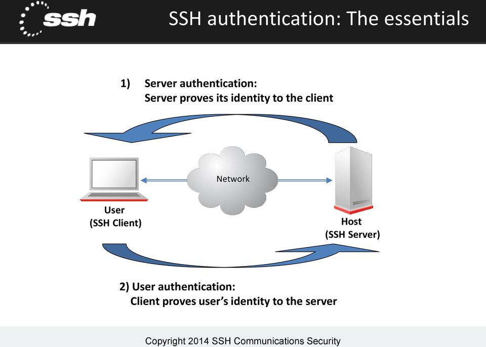 client Network User (SSH Client) Host (SSH Server) 2)