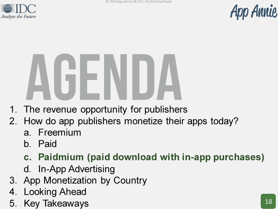 Paid c. Paidmium (paid download with in-app purchases) d.
