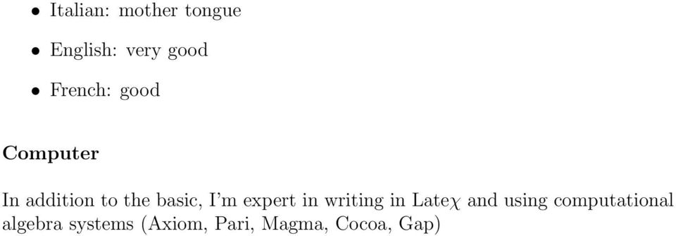 I m expert in writing in Lateχ and using