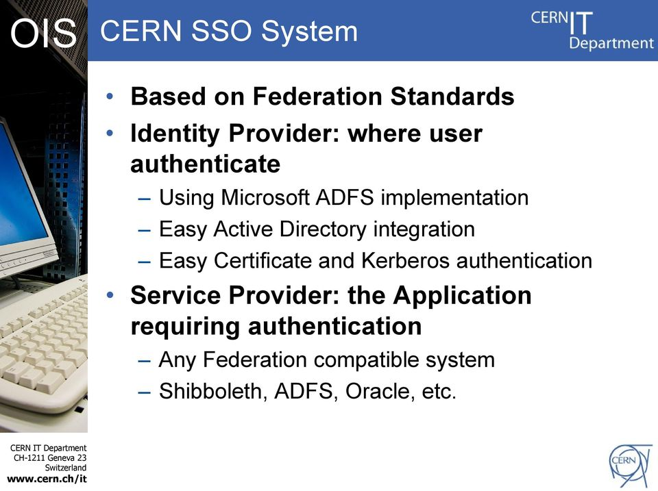 integration Easy Certificate and Kerberos authentication Service Provider: the