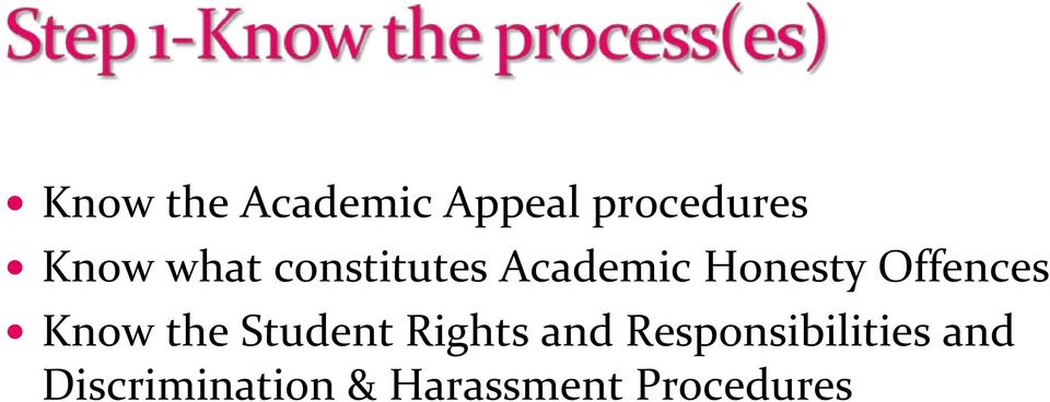 Know the Student Rights and