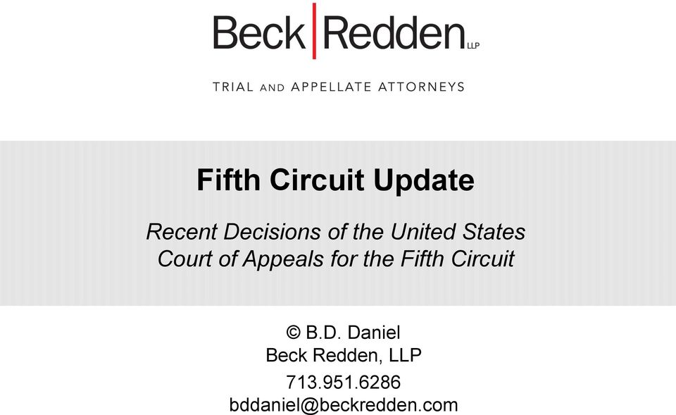 the Fifth Circuit B.D.
