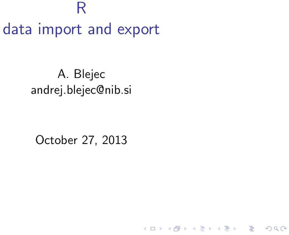 R data import and export - PDF