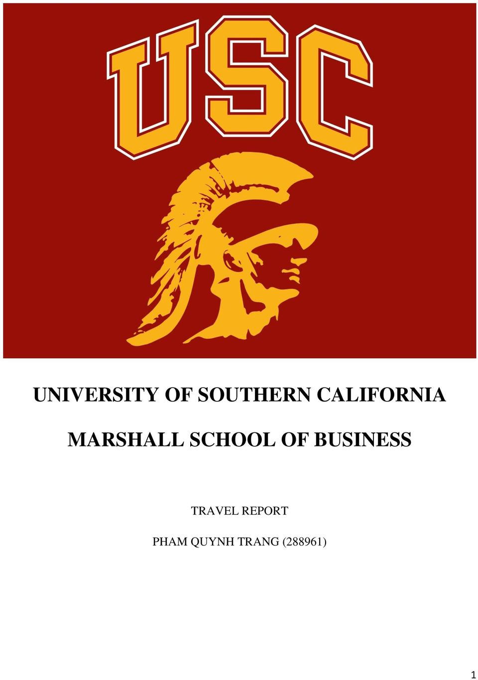 SCHOOL OF BUSINESS TRAVEL