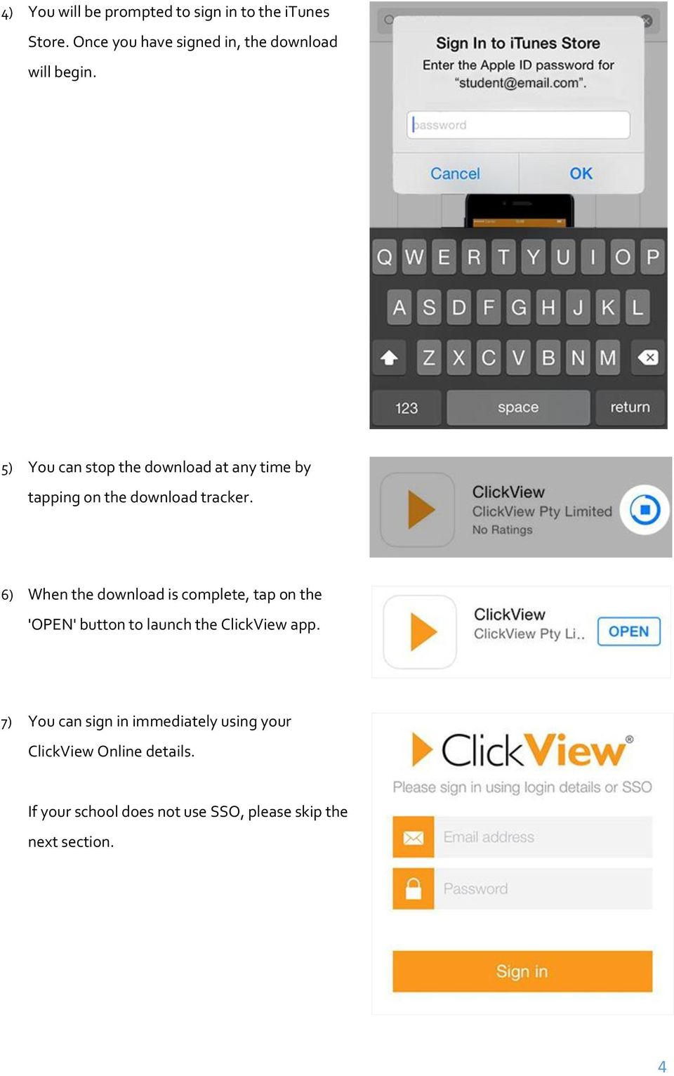 5) You can stop the download at any time by tapping on the download tracker.