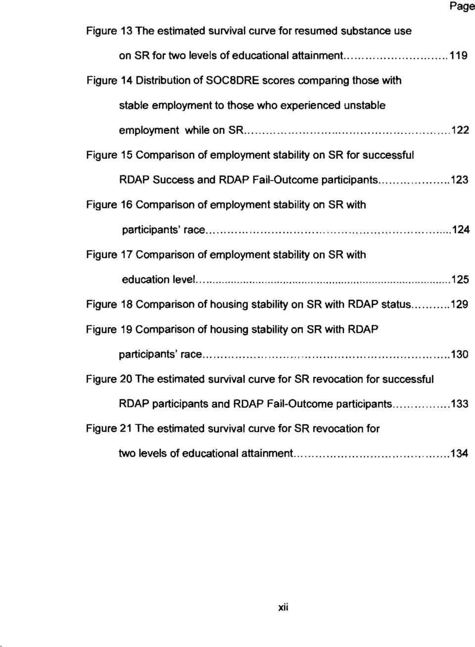 ....,122 Figure 15 Comparison of employment stability on SR for successful RDAP Success and RDAP Fail-Outcome participants... 123 Figure 16 Comparison of employment stability on SR with.