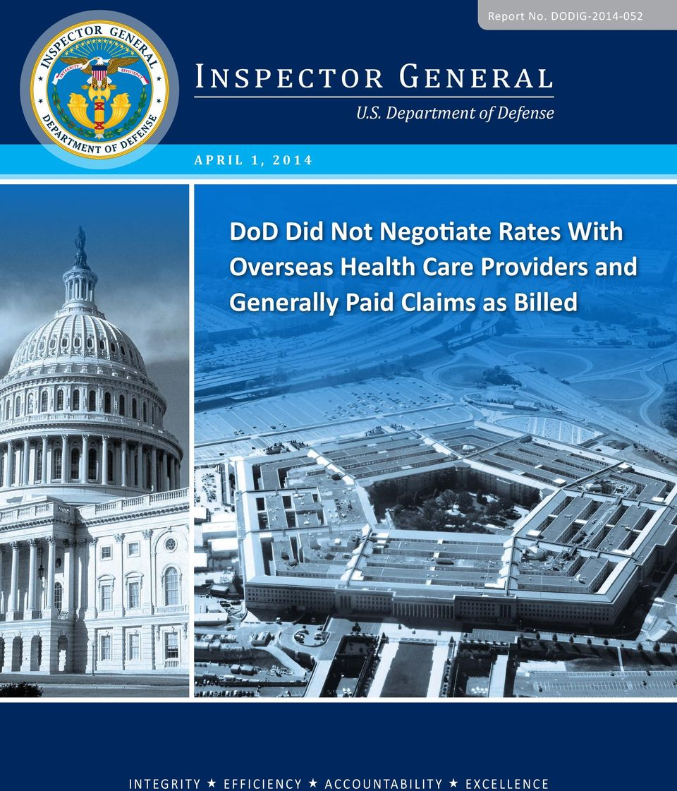 Rates With Overseas Health Care Providers and Generally