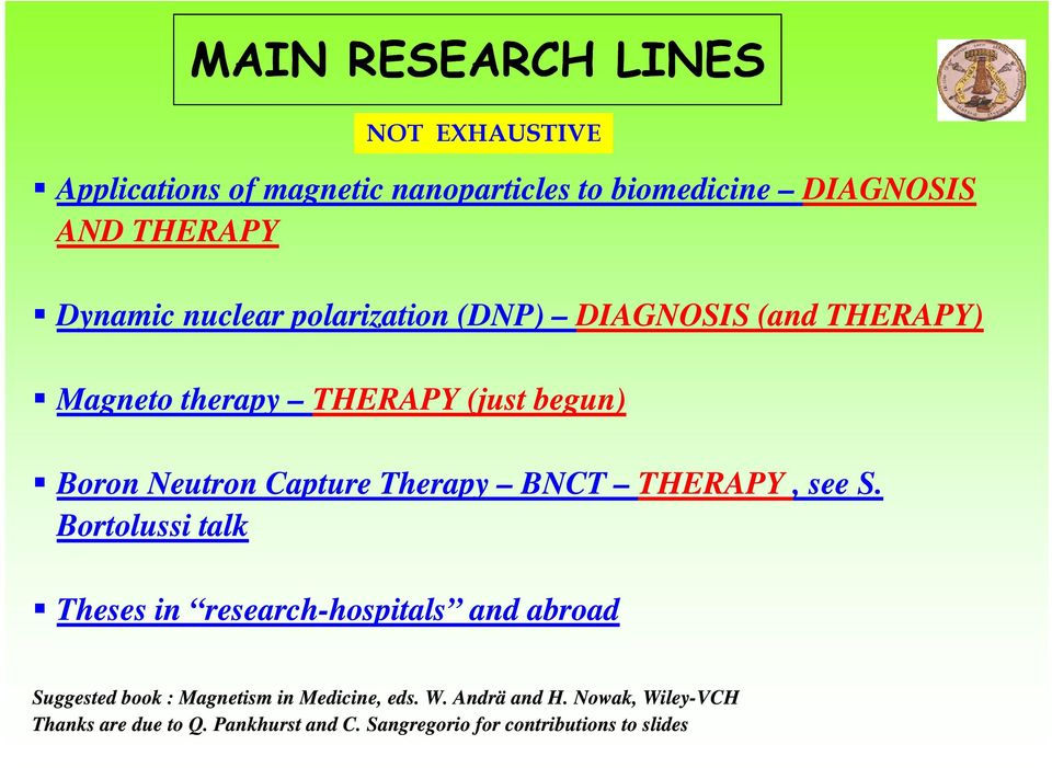 Therapy BNCT THERAPY, see S.