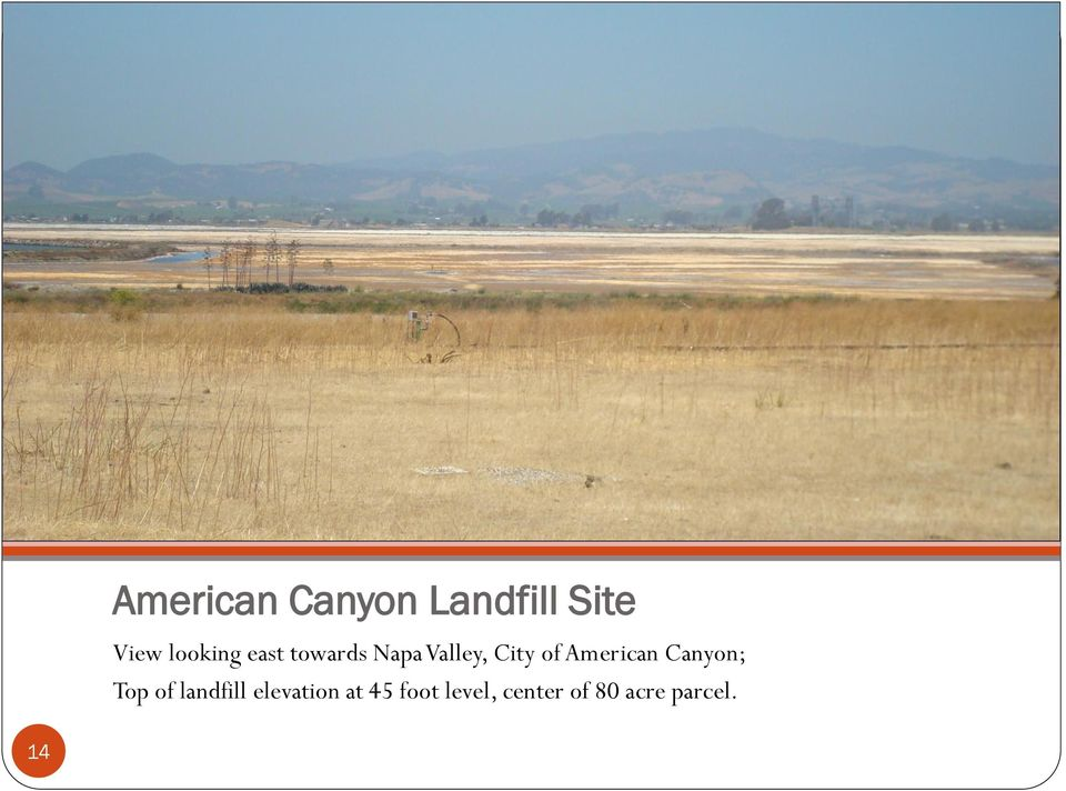 American Canyon; Top of landfill