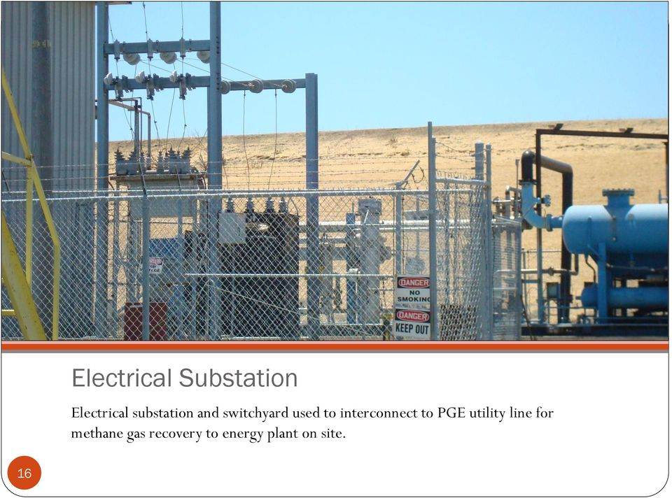 interconnect to PGE utility line for