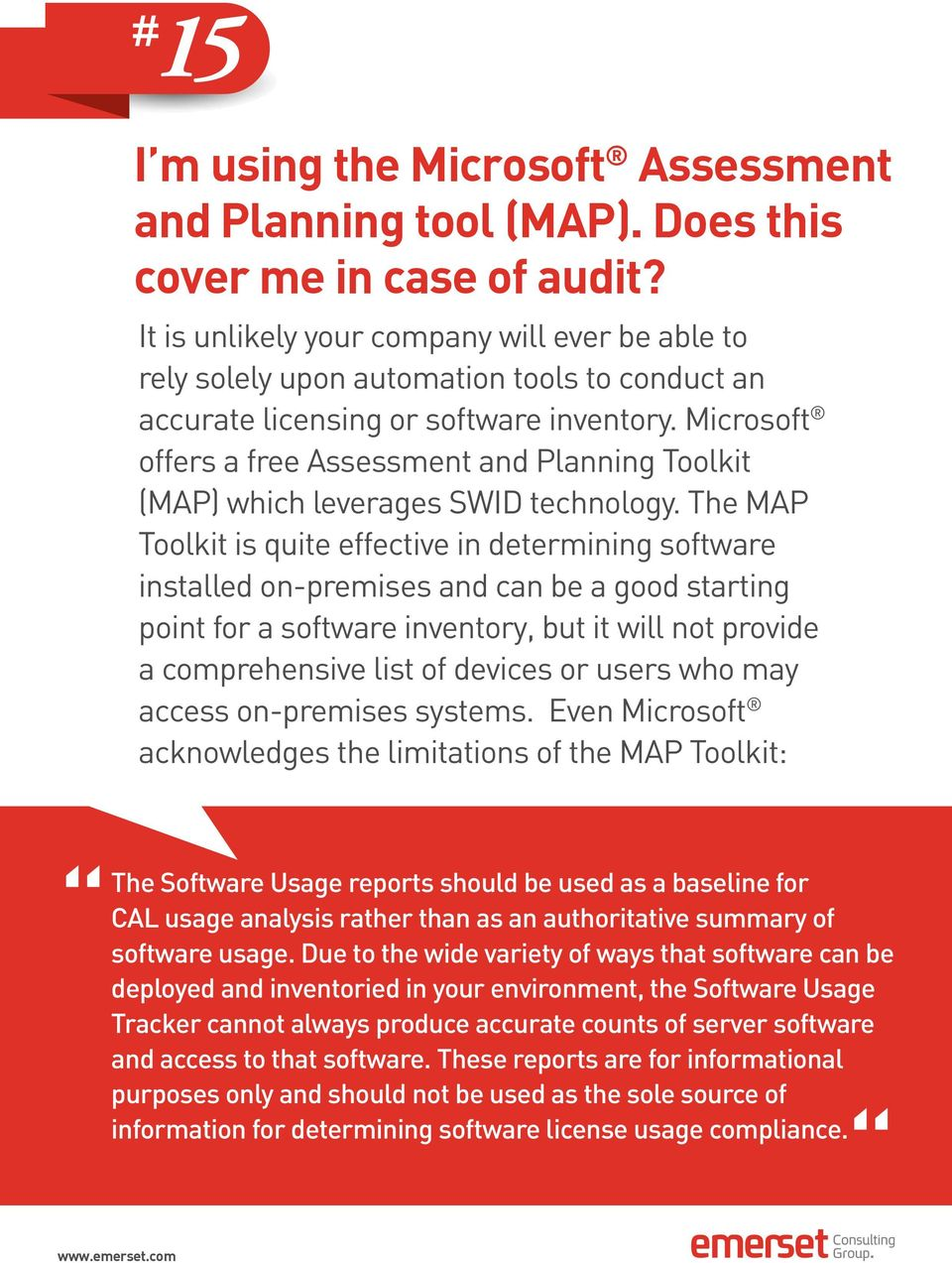 Microsoft offers a free Assessment and Planning Toolkit (MAP) which leverages SWID technology.