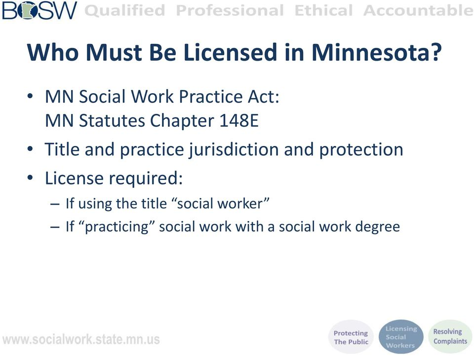 and practice jurisdiction and protection License required: