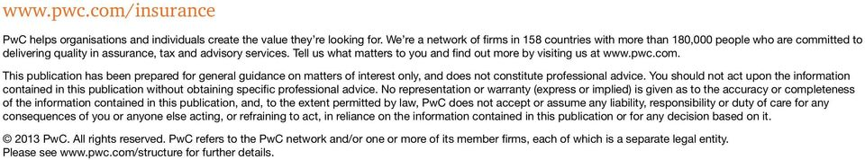 Tell us what matters to you and find out more by visiting us at www.pwc.com.