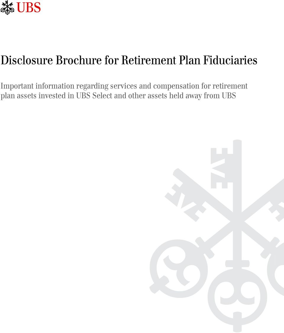 services and compensation for retirement plan