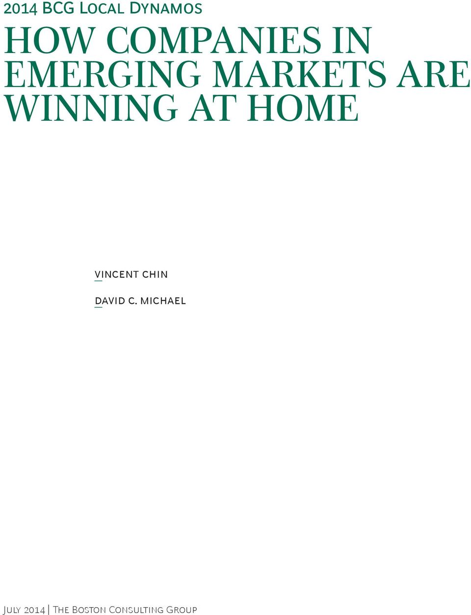 Winning at Home Vincent Chin David