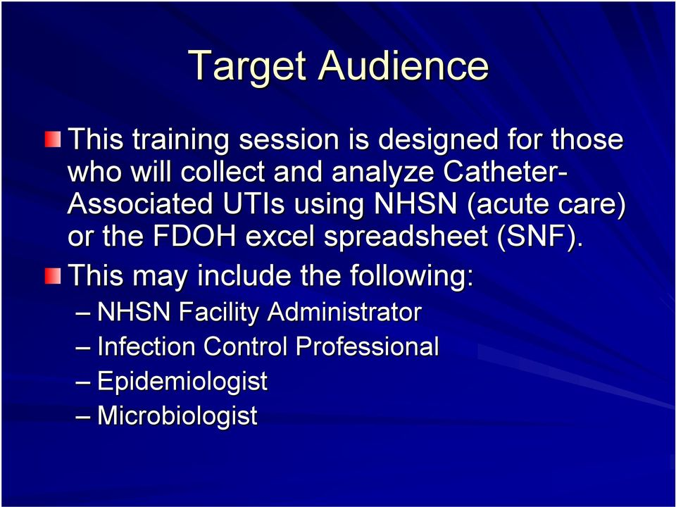 the FDOH excel spreadsheet (SNF).