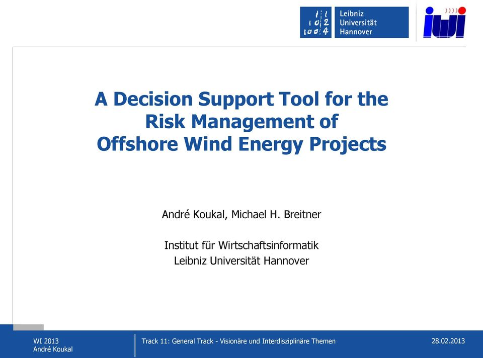 Energy Projects, Michael H.