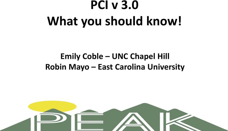 Emily Coble UNC Chapel