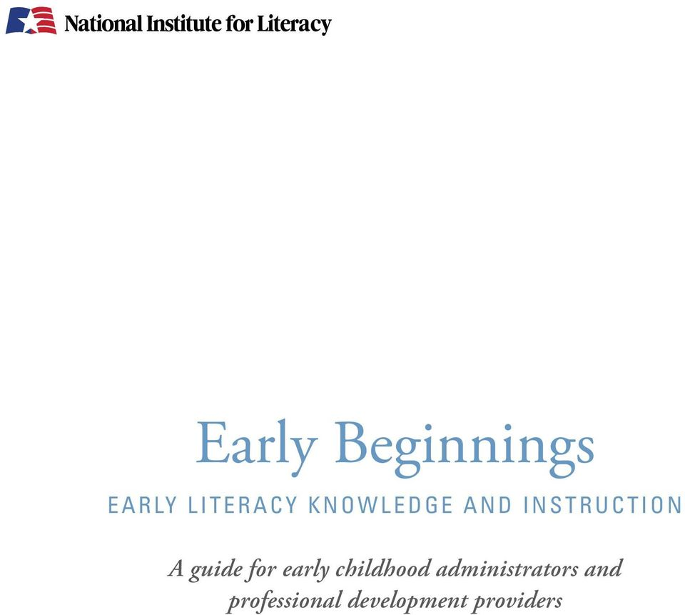 for early childhood administrators