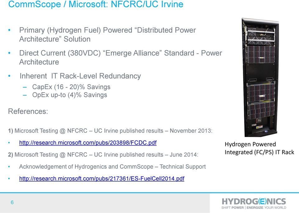 Irvine published results November 2013: http://research.microsoft.com/pubs/203898/fcdc.