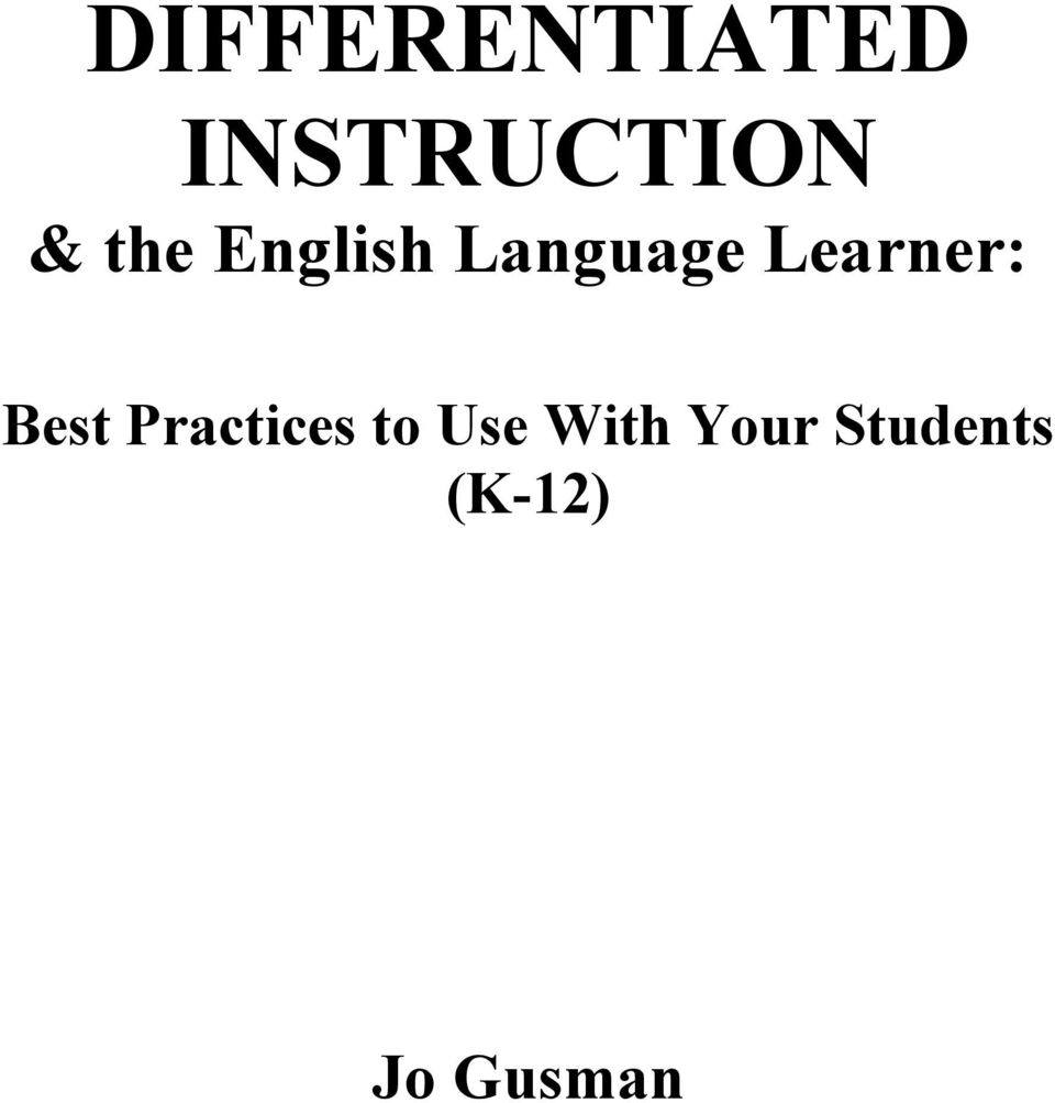 Learner: Best Practices to