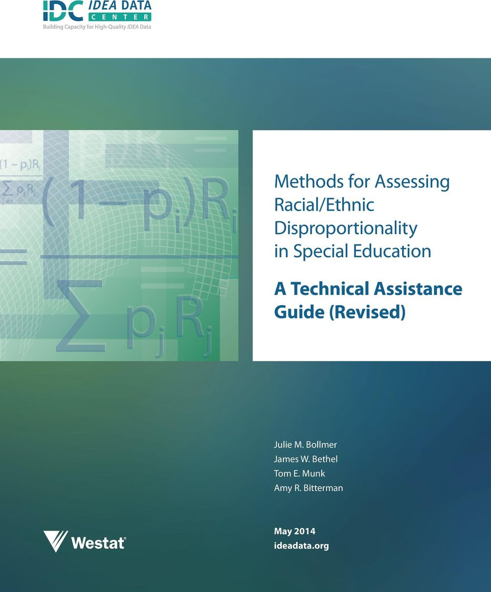 Technical Assistance Guide (Revised) Julie M.