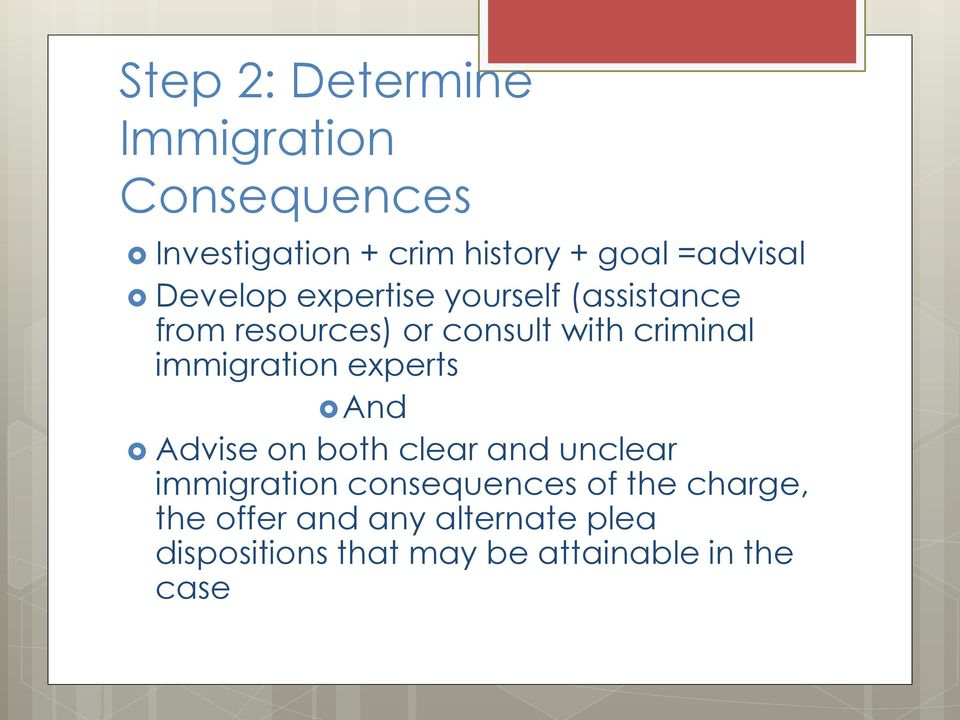 criminal immigration experts And Advise on both clear and unclear immigration