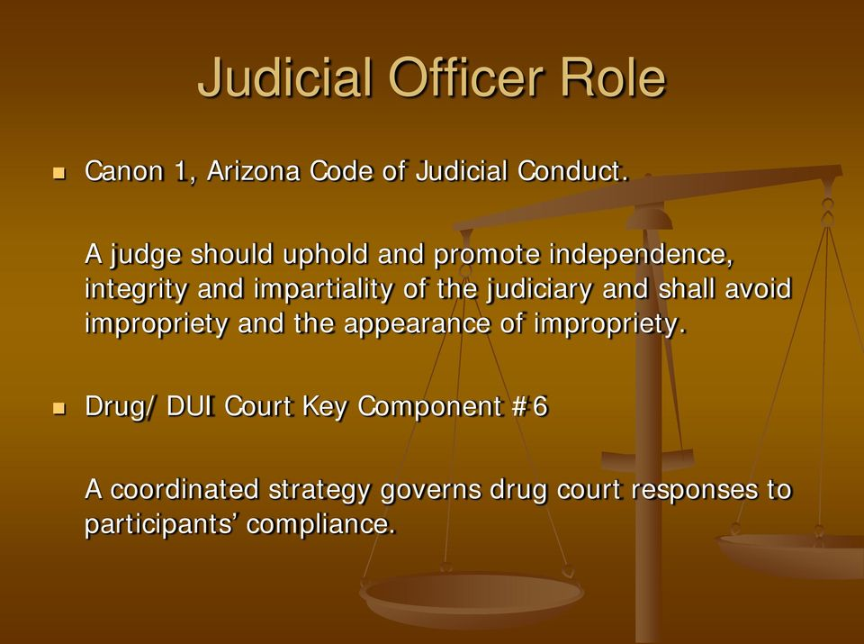 judiciary and shall avoid impropriety and the appearance of impropriety.