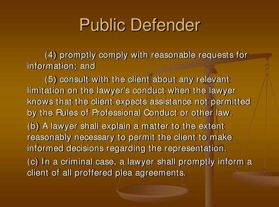 Professional Conduct or other law.