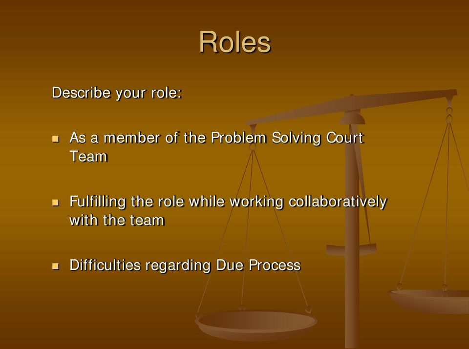 the role while working collaboratively