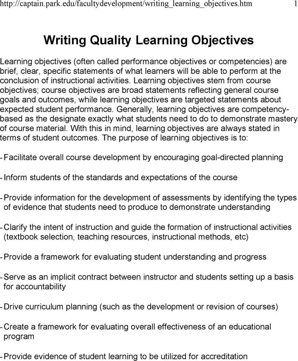 writing course objectives List of measurable verbs used to below you will find a web-resource as well as a list of measurable verbs to assist you in writing course objectives and.