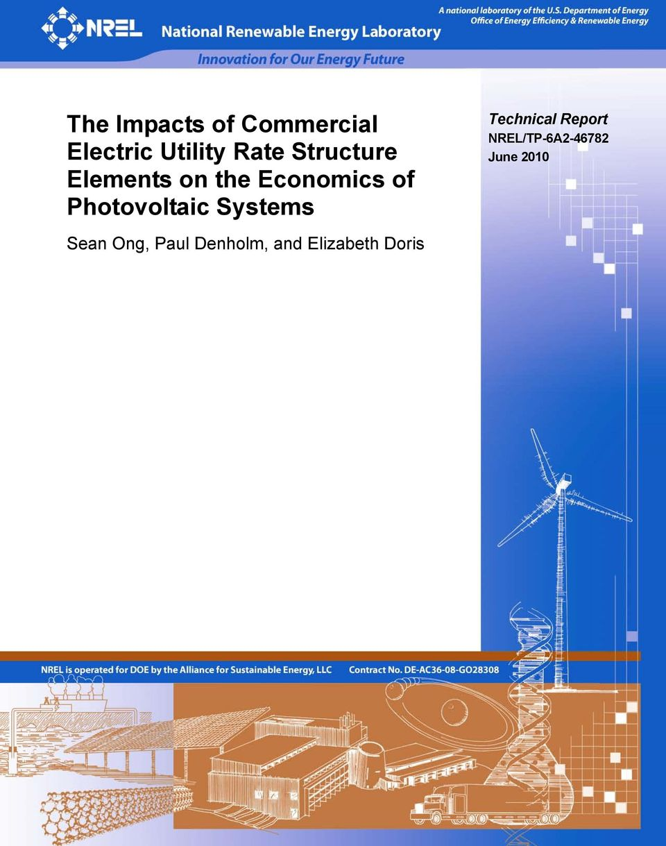 Photovoltaic Systems Technical Report