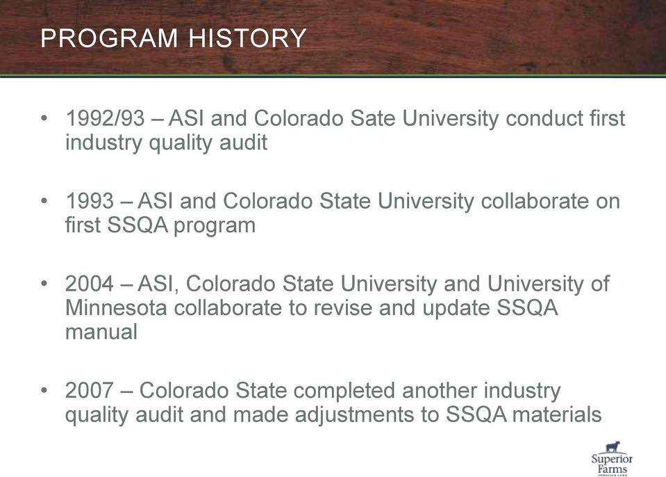 State University and University of Minnesota collaborate to revise and update SSQA manual