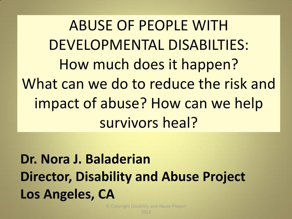What can we do to reduce the risk and impact of abuse?