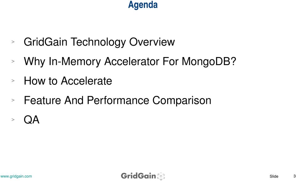 Accelerator For MongoDB?